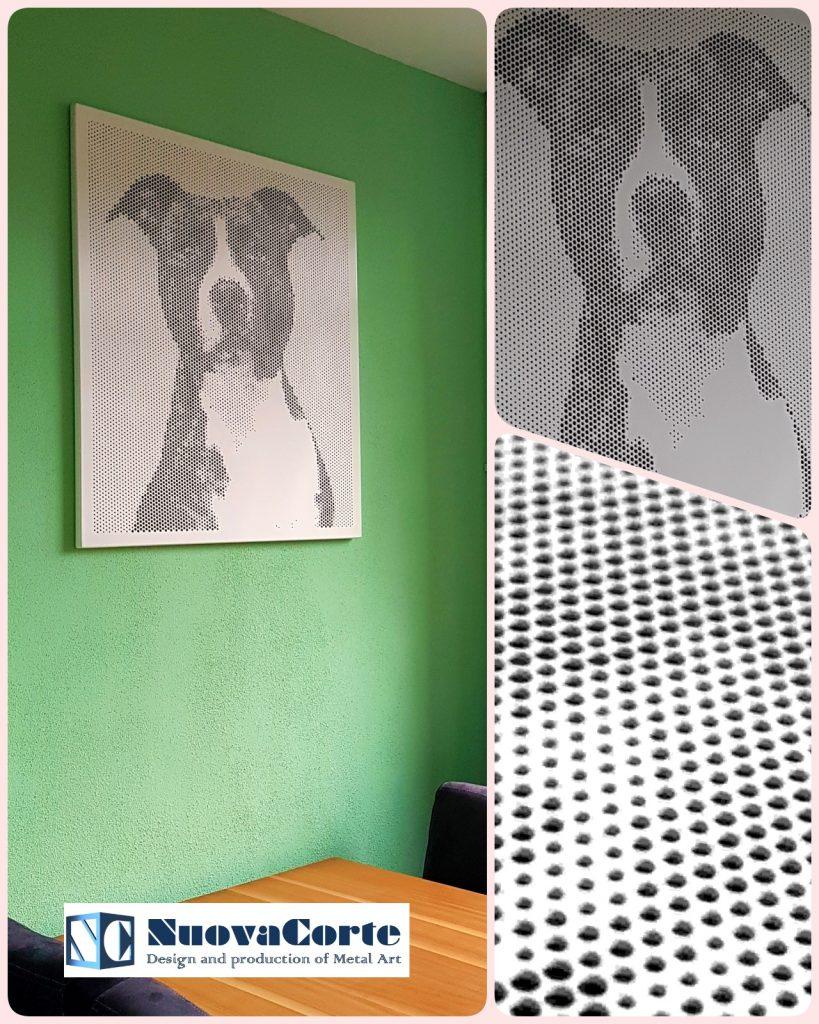 Met behulp van perforatie kunt u uw foto's op een bijzondere manier transformeren tot een bijzonder portret of afbeelding. Spot-art perforatiekunst: een bijzondere vorm van metal art voor portretten, afbeeldingen en logo's