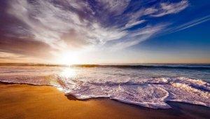 Muurprint Sunset beach